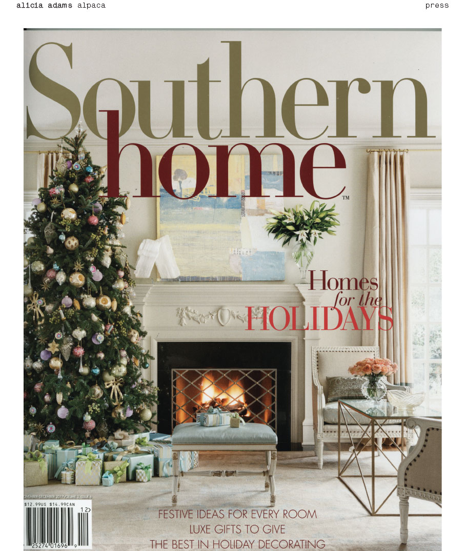 alicia adams alpaca nomad travel set, southern home December 2017