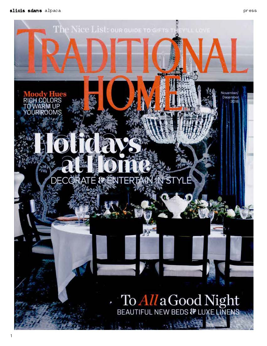 traditional home november december 2018 featuring luxurious classic throw blanket by alicia adams alpaca